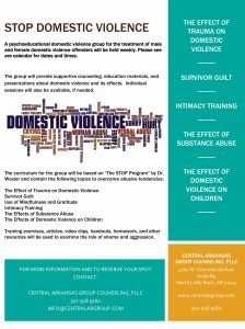 Benton Domestic Violence Offender Group 9:00 am @ Central AR Group Counseling | Benton | Arkansas | United States